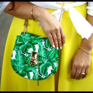 Tropical print bag