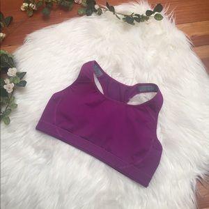 purple nike dri-fit sports bra size S
