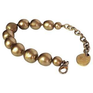 Karl Lagerfeld gold pearl bracelet runway