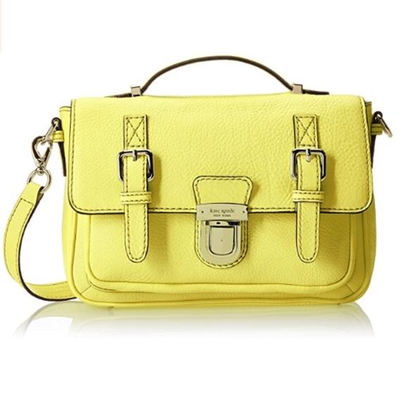 kate spade Handbags - Kate Spade  Yellow Crossbody Lola Avenue Lia