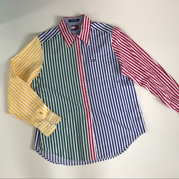 dd198f44a Vintage Tommy Hilfiger Striped Shirt Primary Color.  M_59a5f7cd7fab3a1dff02b40e