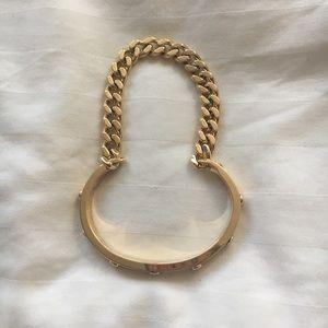 Henri Bendel gold chain bangle bracelet