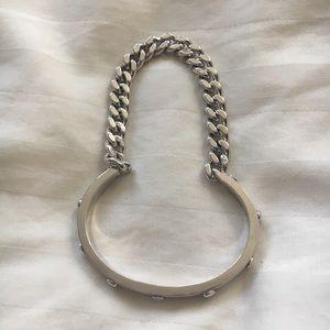 Henri Bendel silver chain bangle bracelet