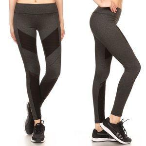 Pants - NWT Moto Style Leggings Charcoal / Black