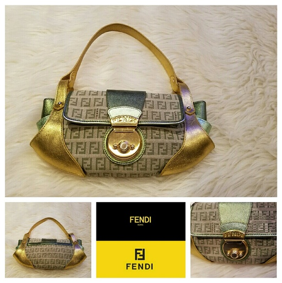 Fendi Handbags -  890 FENDI Metallic Monogram Compilation Bag 722cba9e11ce9