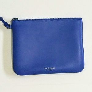 Rag & Bone Blue Leather Wristlet