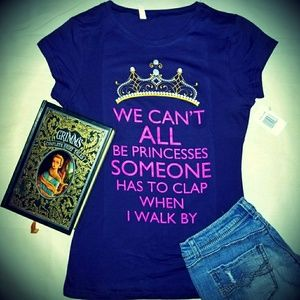 Tops - 👑Princess👑 Purple Glitter Crown Fitted Tee Shirt