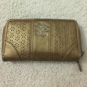 Gold Jessica Simpson wallet