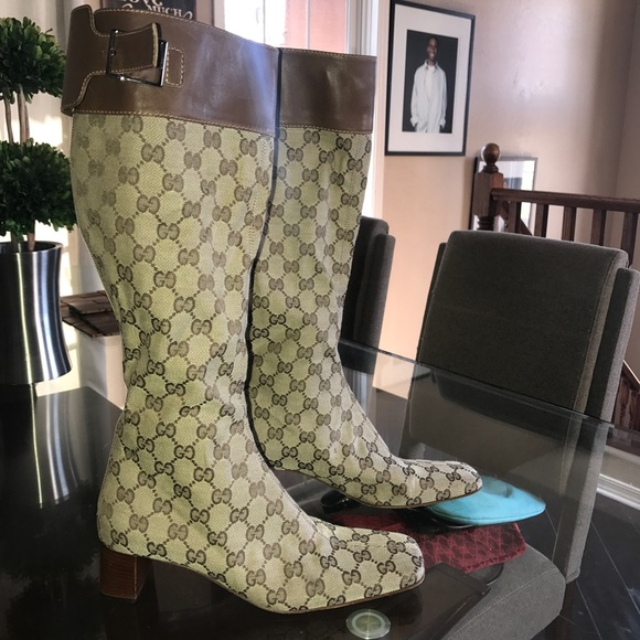 441302db834d6 Gucci Shoes | Knee Length Vintage Monogrammed Boots Sale | Poshmark