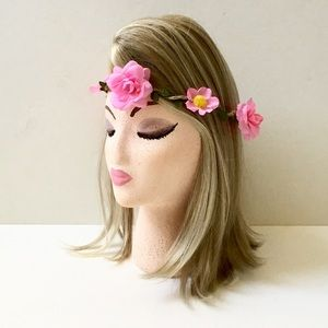 Accessories - Floral Crown, Twine & Silk Floral on Twisted Wire