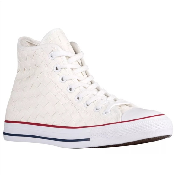 Converse Chuck Taylor All Star Hi Top Woven White NWT