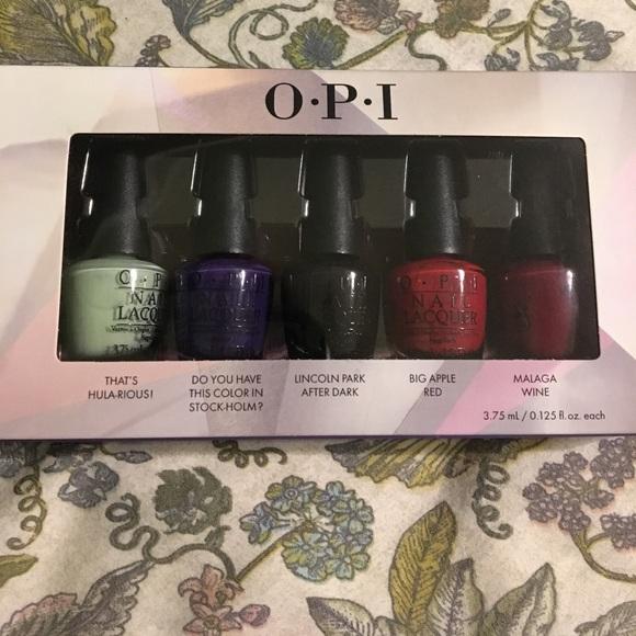 Makeup | Opi Mini Nail Polish Set 5 | Poshmark