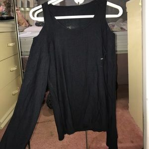 Long sleeve sweater with cut out shoulders