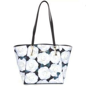 {KARL LAGERFELD} Floral Saffiano Tote Bag Purse