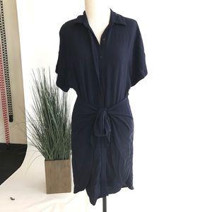 Wrap-Tie Shirt Dress