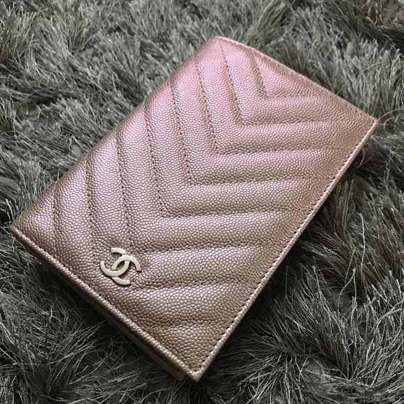 a7fbd801f54dd0 CHANEL Accessories | Passport Holder In Light Rose Gold | Poshmark