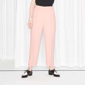 & Other Stories millennial pink tailored trousers