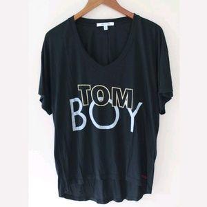 Peace Love World Graphic Tom Boy T Shirt
