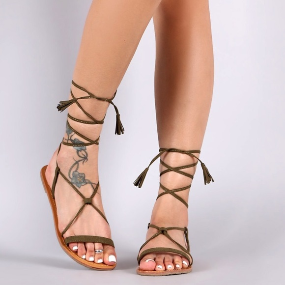 720e055629800a NWOB green gladiator sandals- SALE in description!