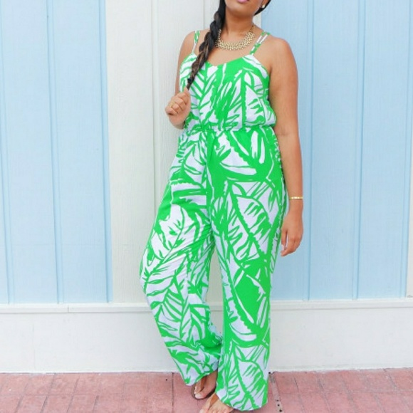 dca226634e0 Lilly Pulitzer for Target Pants - Lilly Pulitzer Boom Boom Green Leaf  Jumpsuit