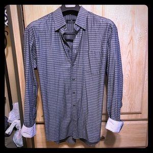 Men's BUGATCHI UOMO Flip-Cuff/Collar Button-Down