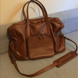 9c482b5b9357 this is ground Bags - THIS IS GROUND VOYAGER CLASSIC LEATHER WEEKEND BAG