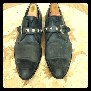 Mens Rock & Republic Studded Leather Strap Loafers