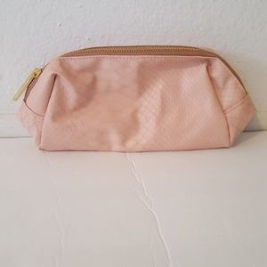 bareMinerals Faux Croco Pink Makeup Bag