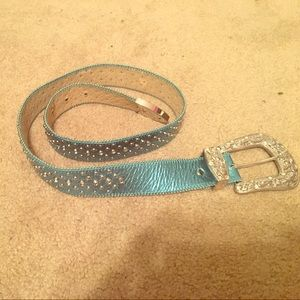 Accessories - Turquoise Western Bling Belt