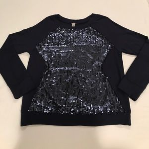 Halogen Sequin Top, Size M