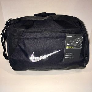 Swarovski Bling Nike Brasilia Duffel Gym Bag CUTE!