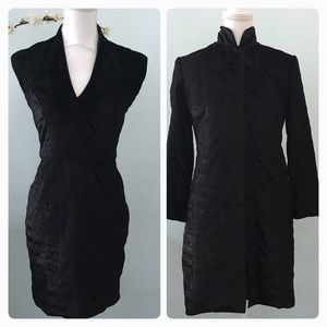 Dresses & Skirts - Black velvet old Hollywood vintage dress