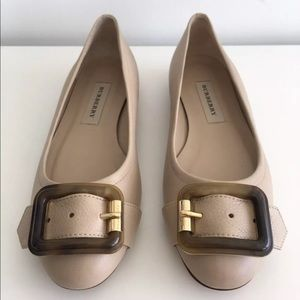 BURBERRY LEYGREEN TRENCH BUCKLE BALLERINA FLATS