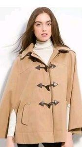 Kut from the kloth hooded cap cloak jacket tan