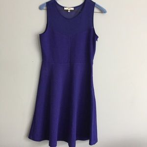 Purple Dress With Top Mesh Lining and Exposure