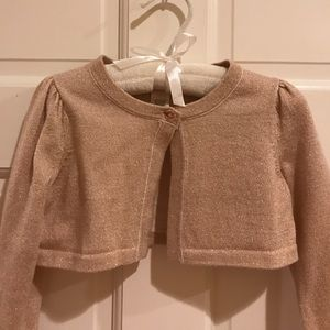 Janie and Jack Rose Gold Sweater