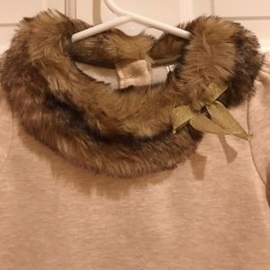 Janie and Jack Tunic with Faux Fur