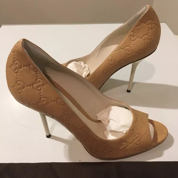 77beaaf51 Gucci Shoes | New Ssima Gg Embossed Leather High Heel | Poshmark