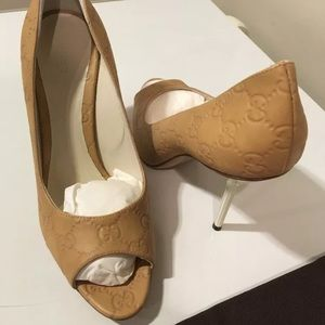 27fc53675 Gucci Shoes - New Gucci Guccissima GG embossed leather high heel