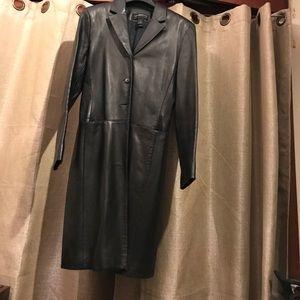 Liz Claiborne Black leather coat