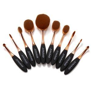 """""""My Makeup Brush Set"""" 10 piece oval brush set"""
