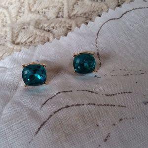 Jewelry - Large Teal Jeweled Studs