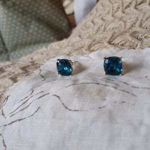 Jewelry - Large Blue Jeweled Studs