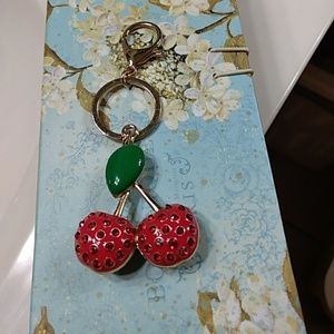 Accessories - Cute strawberry keychain and purse fob