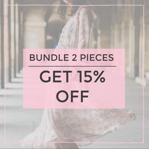 Other - Bundle 2 of my items and get 15% OFF