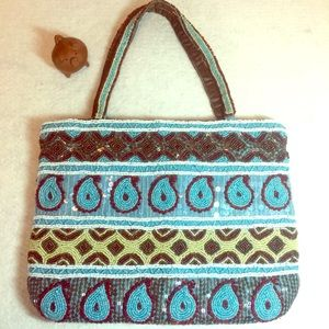 Christiana Beaded Blue Handbag Purse