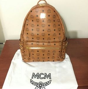 Mcm Medium Backpack Authentic Brown Supreme