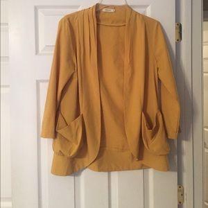 Mustard Yellow Blazer / Kimono