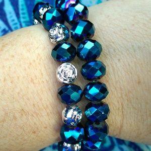 Jewelry - Blue Crystal Beaded Bracelets