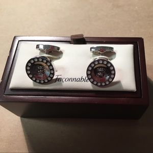 Faconnable stainless steel cuff links buttons men